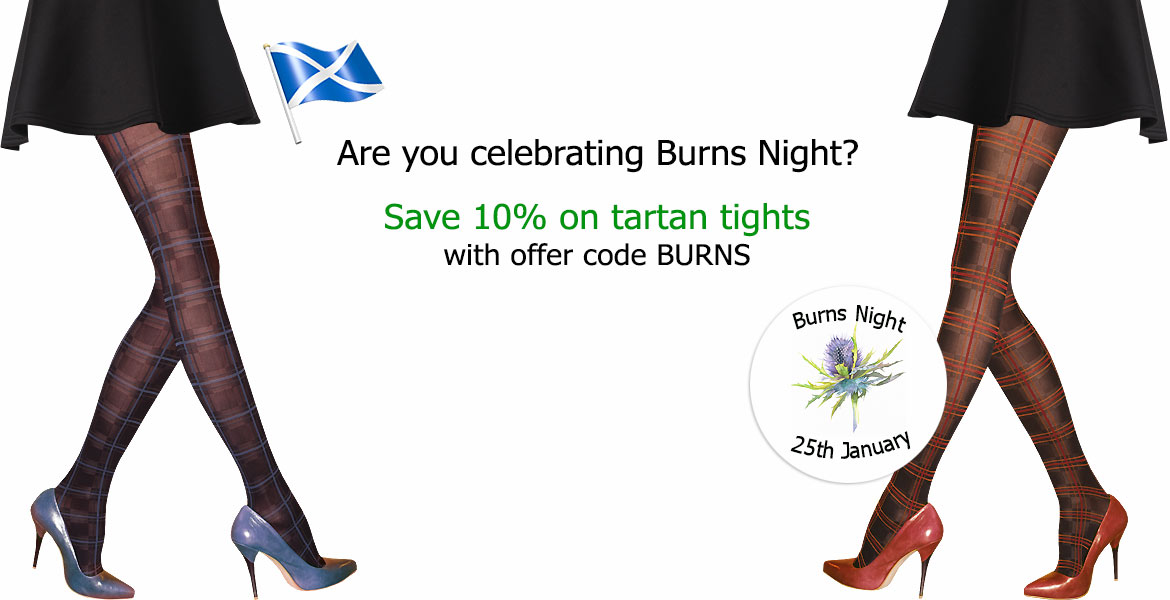 10% Off Tartan Tights