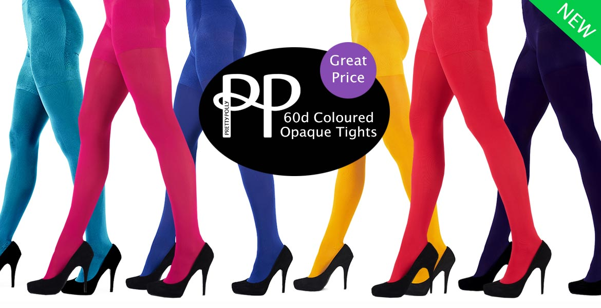 New Pretty Polly Coloured Opaques