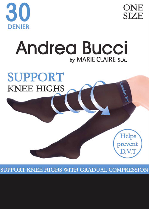Andrea Bucci 30 Denier Support Knee Highs