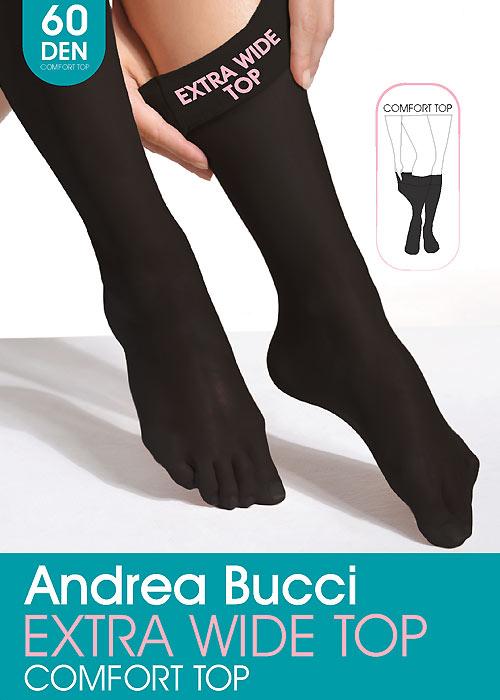 Andrea Bucci Extra Wide Comfort Top Opaque Knee Highs