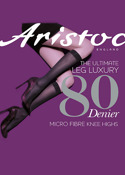 Aristoc 80 Denier Micro Fibre Knee Highs