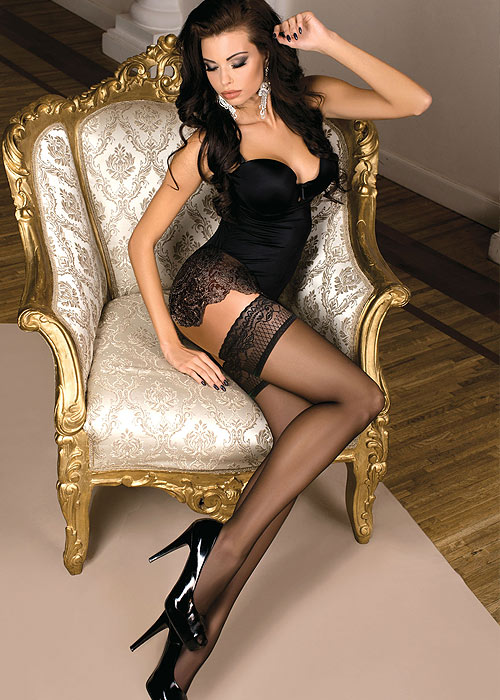 Ballerina Gaia Classic Lace Top Hold Ups