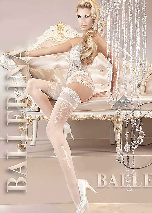 Ballerina Thetis Pearl Lace Top Hold Ups