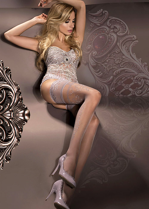 Ballerina Sigyn Deep Lace Top Hold Ups