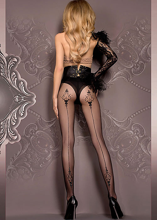 Ballerina Eurydice Sparkle Backseamed Tights