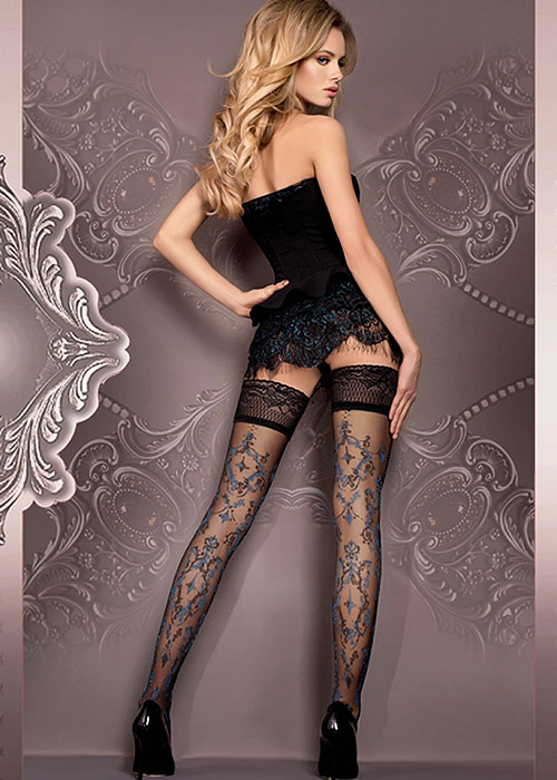 Ballerina Kara Deep Lace Top Hold Ups
