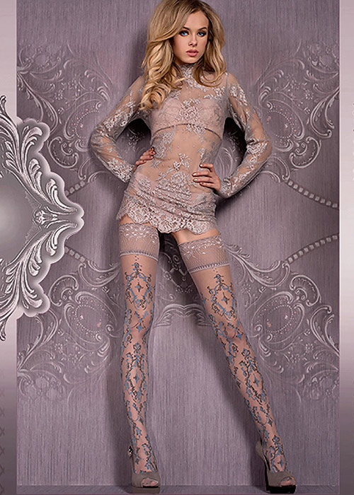 Ballerina Herja Deep Lace Top Hold Ups