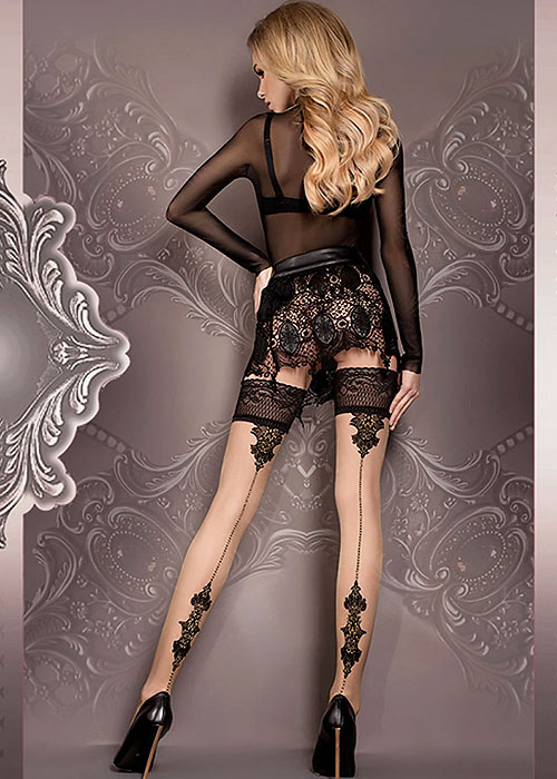 Ballerina Hera Dotted Backseamed Hold Ups