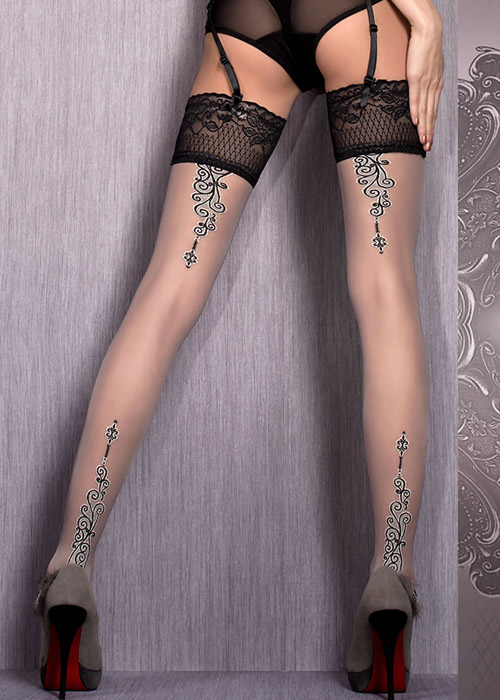 Ballerina Mani Deep Lace Top Hold Ups Zoom 2