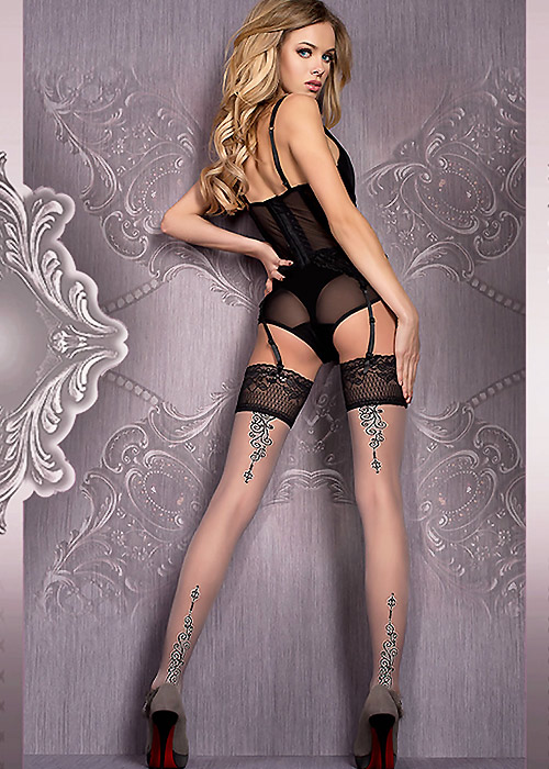 Ballerina Mani Deep Lace Top Hold Ups