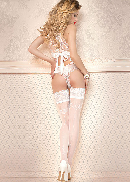 Ballerina Sif Deep Lace Top Hold Ups