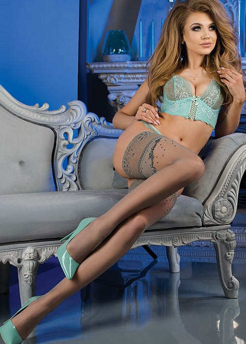 Ballerina Hella Deep Lace Top Hold Ups