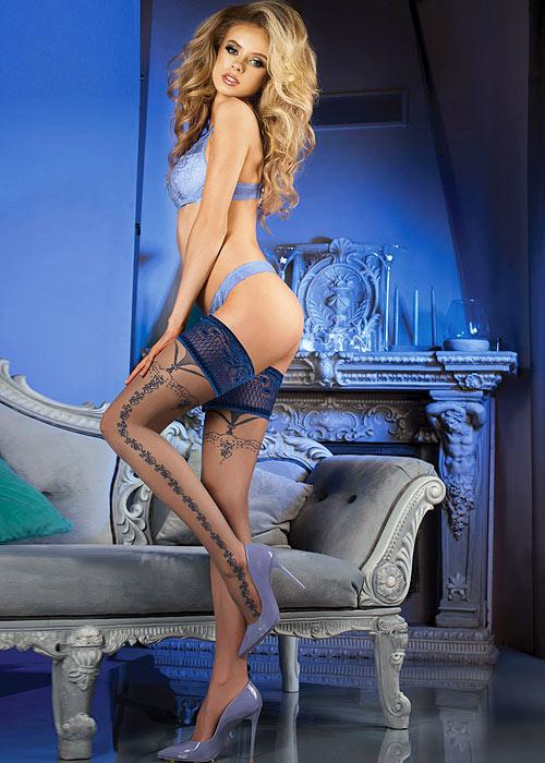 Ballerina Ran Deep Lace Top Hold Ups