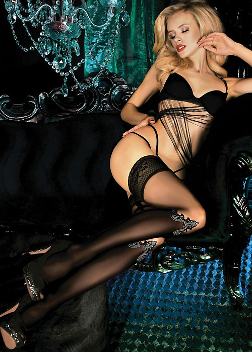 Ballerina Hedone Lace Top Hold Ups