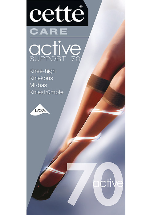 c0304208931 Cette Active Medium Support 70 Knee Highs In Stock At UK Tights