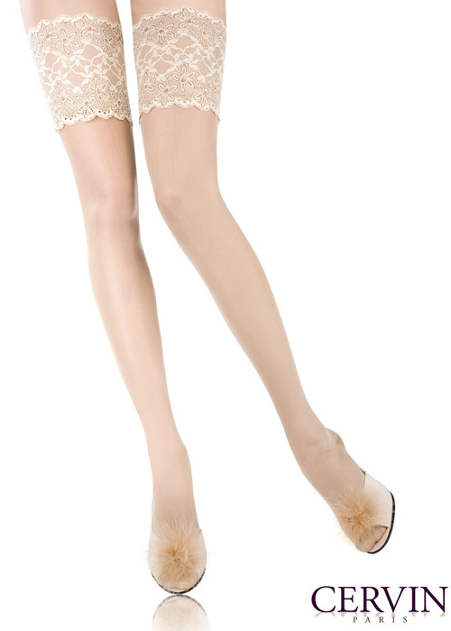 8bb308101 Cervin Rive Gauche Silk Hold Ups In Stock At UK Tights