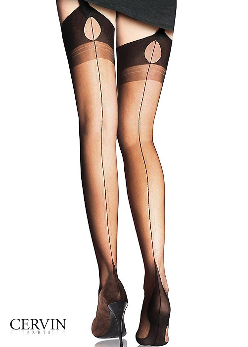 7b9caab0fc1 Cervin Tentation Fully Fashioned Seamed Stockings In Stock At UK Tights