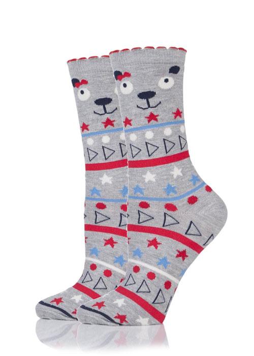 Charnos Bear Fairisle Socks