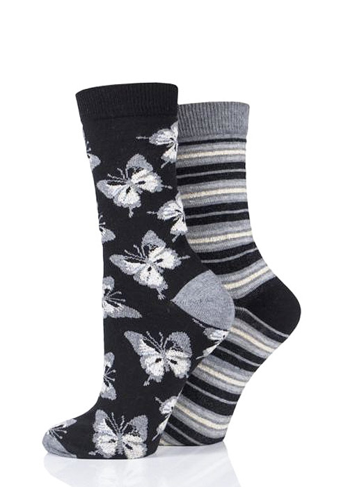 Charnos Butterfly And Stripe Socks 2PP