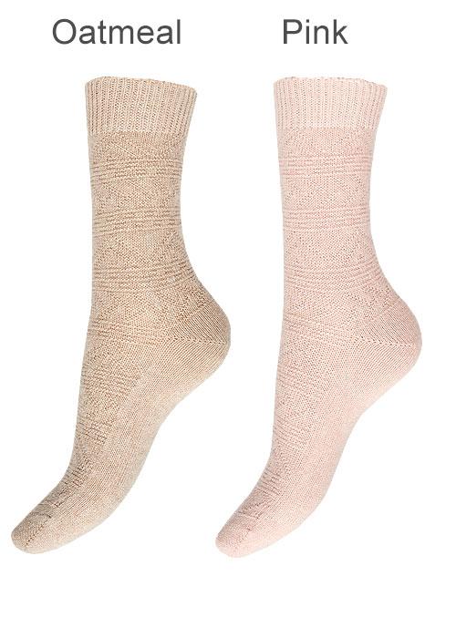 Charnos Cashmere Fairisle Socks