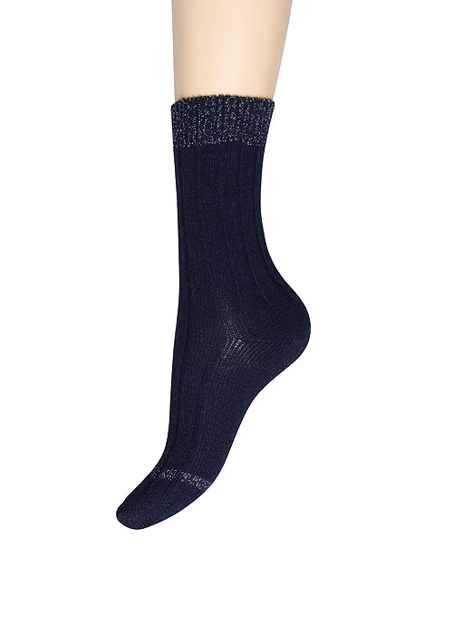 Charnos Cashmere Lurex Top Socks
