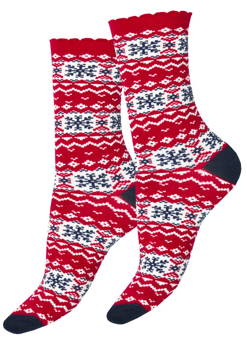Charnos Christmas Fairisle Pattern Socks