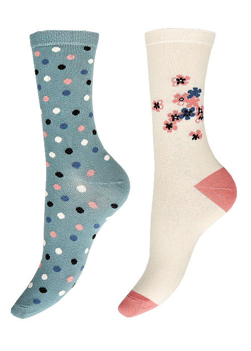 Charnos Floral Placement And Spot Socks 2PP