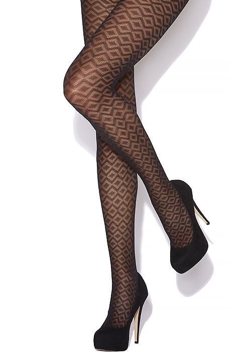 Charnos Mesh Diamond Tights