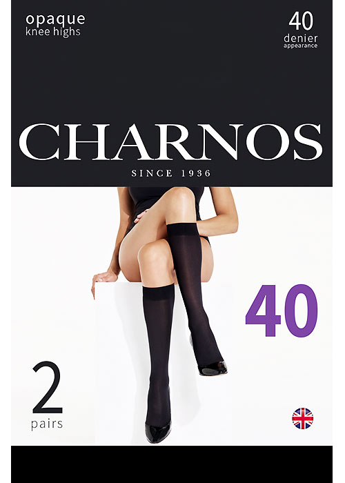 Charnos Opaque 40 Denier Matt Knee Highs 2 Pair Pack