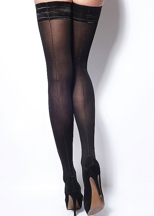 bbef0591b9b Charnos Lurex Opaque Backseam Hold Ups In Stock At UK Tights