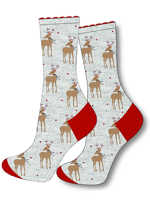 Charnos Reindeer Placement Socks