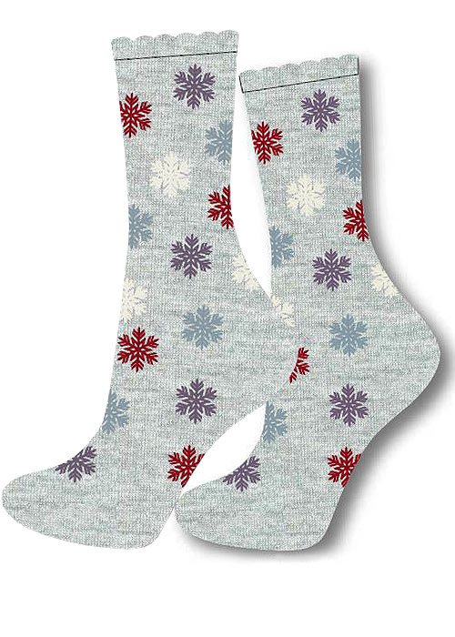 Charnos Snowflake Placement Socks