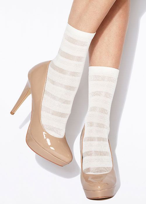 Charnos Stripe Ankle Highs
