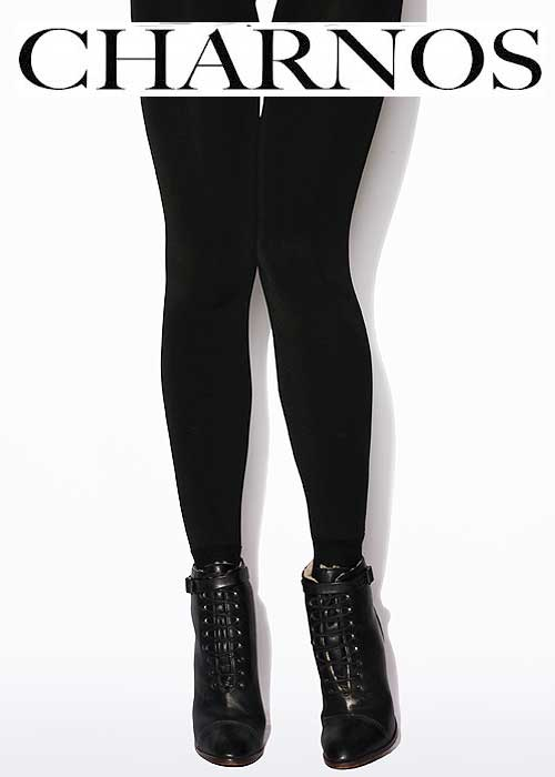 Charnos Velour Lined Tights With Cotton Boot Sock