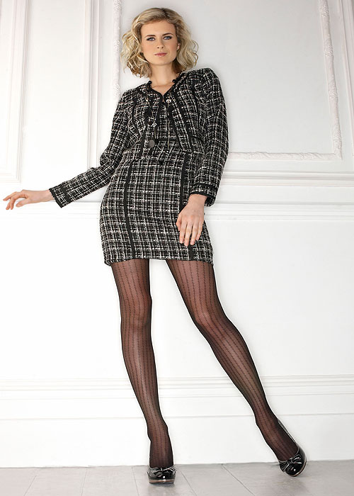 Charnos Sheer Stripe Fashion Tights In Stock At UK Tights
