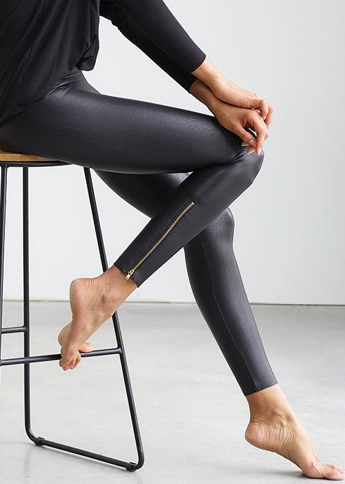 Commando Perfect Control Faux Leather Zip Leggings