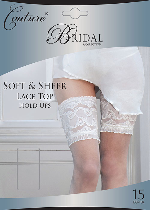 Couture Soft And Sheer Bridal Lace Top Hold Ups