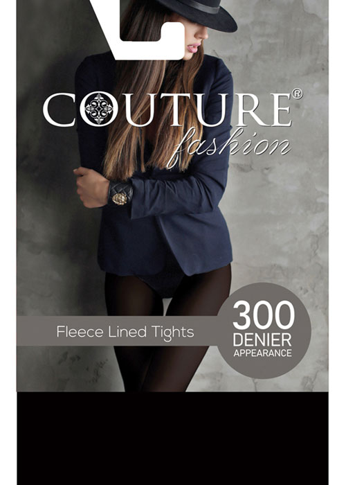 Couture Fashion Fleece Melange Tights