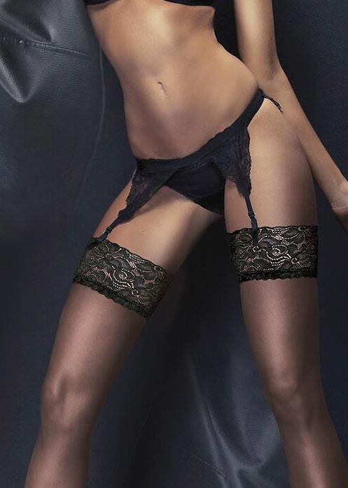 Couture Ultra Gloss Luxury Lace Top Stockings Zoom 2