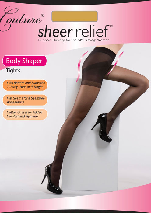 Couture Sheer Relief Body Shaper Tights