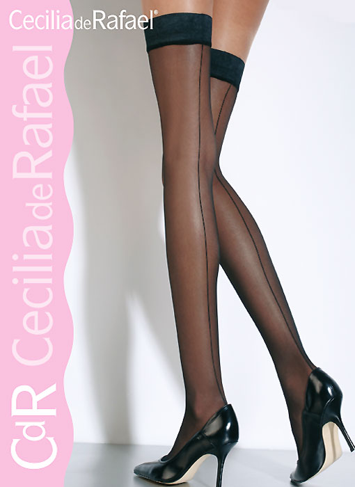 Cecilia de Rafael Hyde Park Backseam Hold Ups