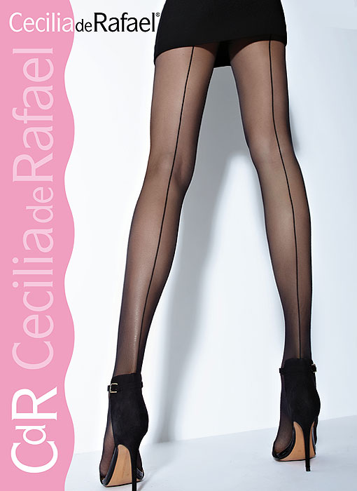 Cecilia de Rafael Hyde Park Backseam Tights