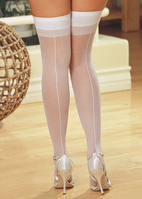 Dreamgirl Sheer Moulin Backseam Stockings Queen Size