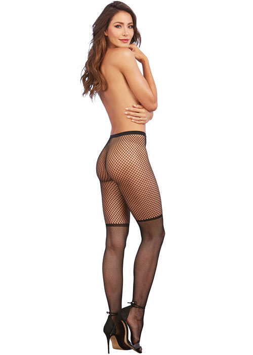 Dreamgirl Two Tone Pattern Fishnet Pantyhose Zoom 3
