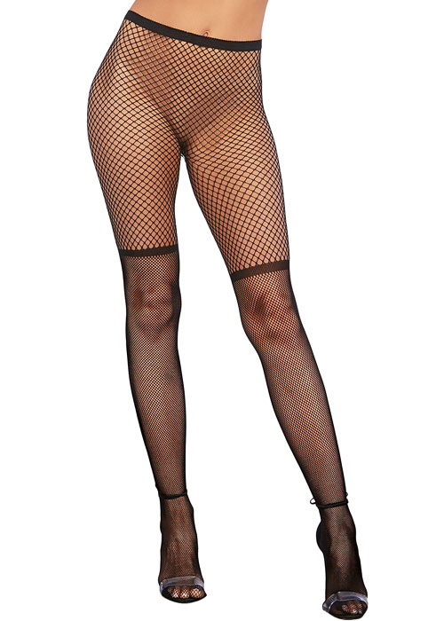 Dreamgirl Two Tone Pattern Fishnet Pantyhose