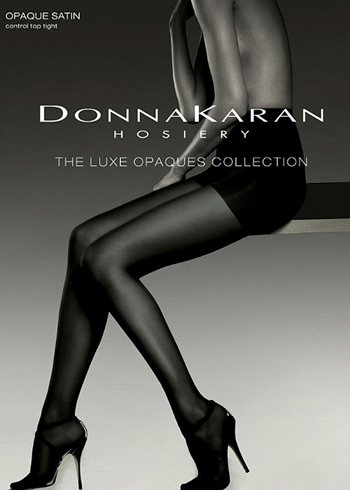 Donna Karan Luxe Collection Opaque Satin Control Top Tights