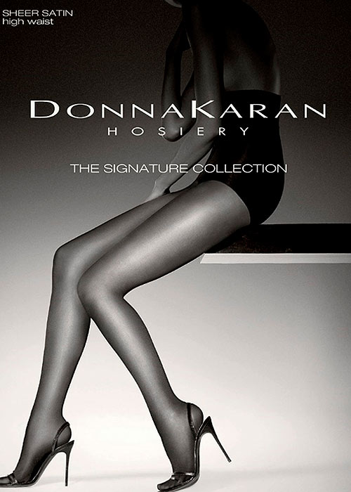 Donna Karan Signature Collection Sheer Satin High Waist Tights
