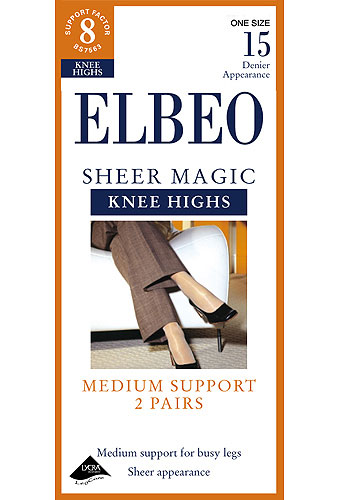Elbeo Sheer Magic Support Knee Highs 2PP