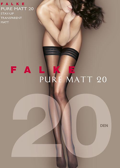 Falke Pure Matt 20 Denier Three Ring Hold Ups