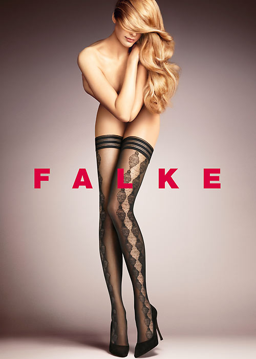 select for clearance delicate colors select for authentic Falke Damask Hold Ups